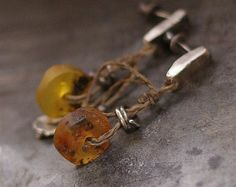 SALE USE COUPON Baltic amber bracelet raw silver by ewalompe
