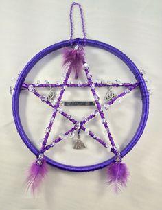 Pentagram, Suncatcher, Spirituality, Metaphysical, Religion, Quartz, Window, Clear Quartz, Hanging, Pentacle,  Pagan, Witch, Wicca, by Angelscrafts1 on Etsy