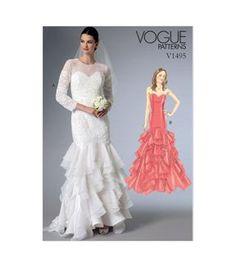 7f981fd45ecd4 Vogue Patterns Misses Bridal - V1495