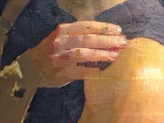 Detail from oil on canvas painting by Diarmuid Kelly