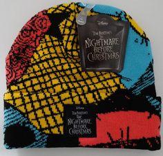 472d724b84b Disney The Nightmare Before Christmas Sally Cuff Beanie Hat by Bioworld