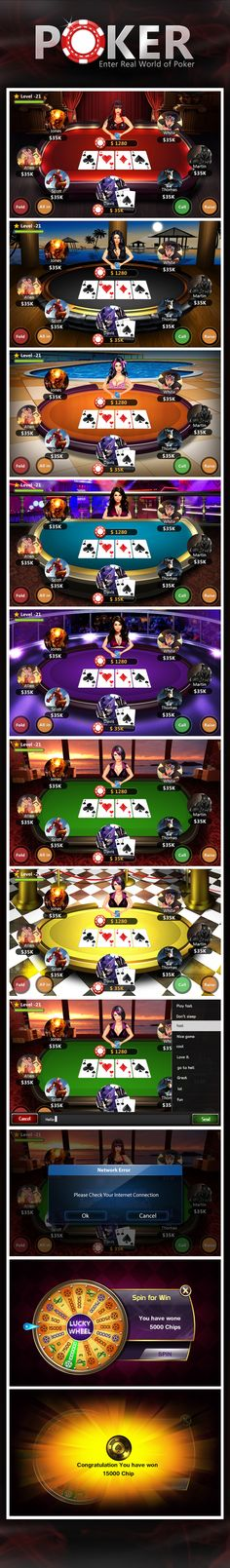 Poker on Behance