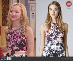 Liv's pink and grey floral top on Liv and Maddie. Outfit Details: http://wornontv.net/47433/ #LivandMaddie