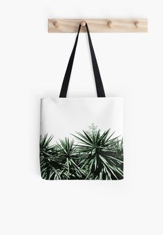 Buy Any 2 & Get 15% OFF --- Yucca Tote Bag by ARTbyJWP from Redbubble #totebag #bag #handbag #fabricbag #tote #artprints #buyart #redbubble #artbyjwp #botanical #green #yucca   -----   Top of yucca trees. • Also buy this artwork on wall prints, apparel, stickers, and more.