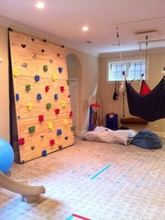 Ideas for home gym! There is a indoor zip bar This website has lots of fantastic ideas for home gyms. Home Gyms - http://amzn.to/2hoGXRy