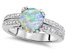 Original Star K(tm) Round 7mm Created Opal Engagement Wedding Ring:Amazon:Jewelry