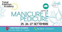 La Total Fashion Academy, Scuola Professionale accreditata dalla Regione Sardegna, organizza il corso per Manicure e Pedicure per il 25-26-27 Settembre