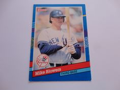 Mike Blowers Donruss 91 Baseball Card.