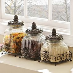 Loop Glass Canister, Set of 3
