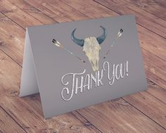 TEEPEE Baby Shower Invitation Thank you card aztec by LyonsPrints