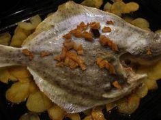 Receta cocina pescado, rodaballo al horno al vinagre de Jérez
