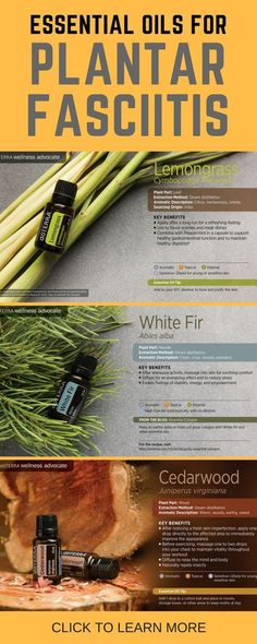 Essential Oils for Plantar Fasciitis Treatment #essentialoils #plantarfasciitis #footpain