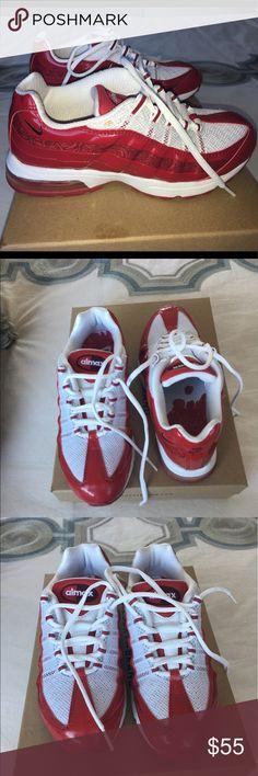 Spotted while shopping on Poshmark: ❤️red hot nike Air Max 95! ❤️! #poshmark #fashion #shopping #style #Nike #Shoes