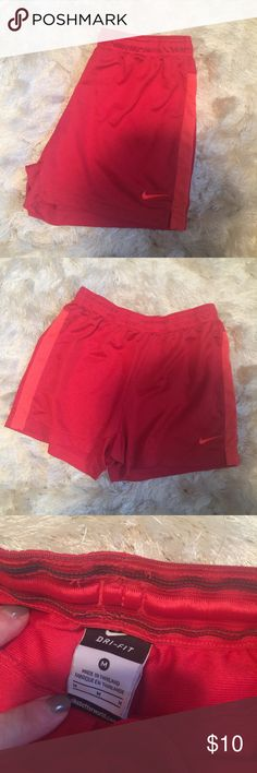 •Nike• Dri Fit Shorts Women's size medium   Dri fit material - smoke free home  No stains/tears. Worn once.   •Sorry, I do not model clothing items•  No trades/holds Nike Shorts
