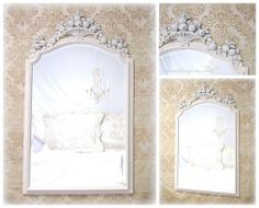 Vintage mirrors for sale 33 x20 ornate french country for Large bedroom mirrors for sale
