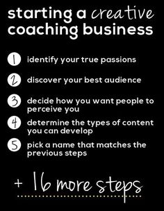HOW TO START A CREATIVE COACHING BUSINESS (YOU LOVE)