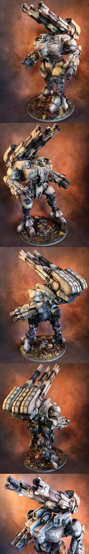 Warhammer 40k   Tau   KX139 Ta'unar Supremacy Armour #warhammer #40k #40000 #wh40k #wh40000 #warhammer40k #gw #gamesworkshop #miniatures #wargaming #hobby #tabletop