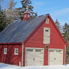 Pics of common commercial metal buildings. Pics of common commercial metal buildings. Pics of common commercial metal buildings. Pics of common commercial metal buildings. Barn House Plans, Barn Plans, Shed Plans, Garage Plans With Loft, Two Car Garage, Garage Ideas, Boat Garage, Dream Garage, Pole Barn Garage