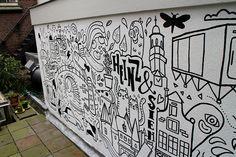 Amsterdam themed mural on Behance