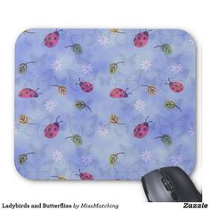 Ladybirds and Butterflies Mouse Pad