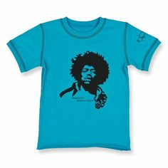 Jimi Hendrix Baby T-shirt turquoise front