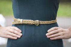 DIY golden rope belt-- OMG why didn't i think of that!!