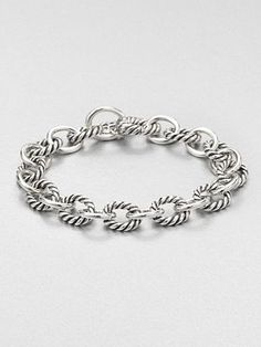 David Yurman Sterling Silver Chain Link Bracelet