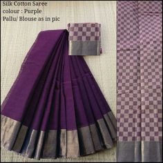 Set Saree, Saree Gown, Lehenga, Purple Saree, Formal Saree, Plain Saree, Silk Cotton Sarees, Saree Models, Bollywood Saree