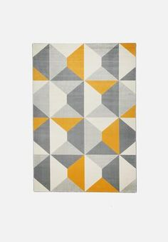 Add some serious style to your space from the ground up. This stand-out rug is bound to make a statement in all its geometric glory. It will add a pop to any room with its contrast colour-scheme and visually playful design.