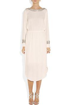 By Malene Birger|Livisa embellished crepe dress|NET-A-PORTER.COM