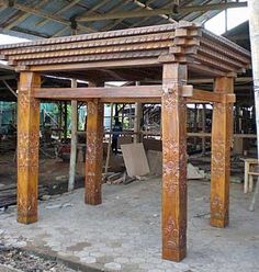 Traditional Javanese JOGLO House Impact Imports - Boise & Philadelphia: reclaimed teak & boat wood furniture, garden stone, architectural elements, Buddha statues, onyx, marble & petrified wood vessel sinks, natural edge wood slab tables, tile & more!