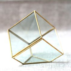 New off Brass/Copper Geometric Cube Glass Box/Jewelry Box/Jewelry Display/Organizer/Ring Box/Jewelry Storage/Glass Glass Display Box, Glass Boxes, Glass Containers, Jewellery Storage, Jewellery Display, Jewelry Organization, Glass Shadow Box, Glass Jewelry Box, Ring Displays