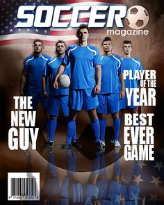 Soccer Photoshop Magazine Cover by arc4Studio on Etsy