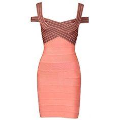 Clothing :: Dresses :: 'Natasha' Rose Pink & Black Cross Bust Bandage Bodycon Dress - Celeb Boutique - Celebrity Style At High Street Prices! - StyleSays