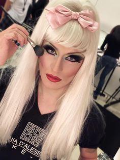 Drag queen make-up - Workshop Stefania D'Alessandro make-up Roma 2015