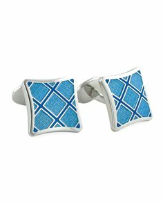 Plaid Cuff Links by David Donahue at Neiman Marcus.