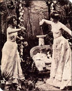 [in 1892, a countess and a princess went to swords over a floral arrangement. Oh, they also did so topless, to avoid wounds become infected by their clothing being driven into them.  Next time someone says in 'in 1892...' I'm gonna bring this up.]