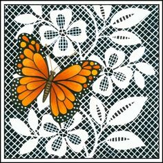 butterfly and lace Dragonfly Wings, Country Paintings, Butterfly Cards, Paint Shop, Psp, Beautiful Butterflies, Making Ideas, Angles, Print Patterns