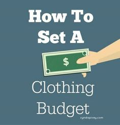We're talking How To Set a Clothing Budget today! Have I mentioned I don't like the word budget!