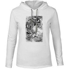 Mintage Weaver Birds Mens Fine Jersey Hooded T-Shirt