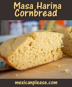 """I finally got around to experimenting with Masa Harina in cornbread and I'm glad I did! It seems to give it a bump in flavor and make it more """"corny"""". I also used chipotles in adobo for some heat but you can consider that optional. #cornbread Mexican Cooking, Mexican Food Recipes, Healthy Eating Recipes, Cooking Recipes, My Favorite Food, Favorite Recipes, Good Food, Yummy Food, Party Food And Drinks"""