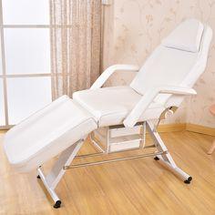 Silla Cama Mesa de masaje Facial Equipo Del Salón de Belleza Spa Salon de usos Múltiples de Cuero Blanco Silla/Mesa de Masaje/Cama Facial