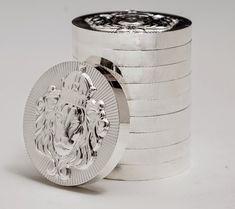 Pure Gold and Silver: Scottsdale 999 Pure Silver Stackers Bullion Rounds Buy Gold And Silver, Gold And Silver Coins, Silver Bars, Gold Coin Wallpaper, Gold Ounce, Sell Your Gold, Silver Investing, Gold Reserve, Coin Design
