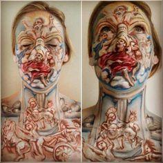 Facepaint illusion