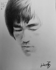 Bruce Lee art Love The Likeness of This Awesome Drawing, Wow.