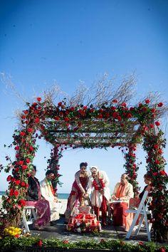 33100aa84fcad3da1c518749321b96f7  beach weddings posts - hindu beach wedding
