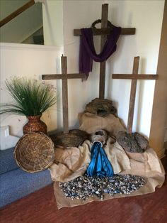 Easter foyer at church