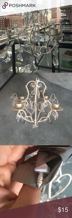 Hanging Chandelier Decor Cute hanging chandelier, perfect to add some character to any room. Can be hung with stick candles or as is. Other