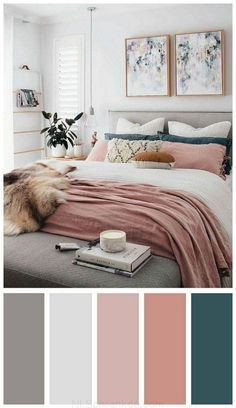 Inspiring Chic Home Color Schemes And Decorations To Get An Pretty Interior - Bedroom inspirations - Dream Bedroom, Home Decor Bedroom, Modern Bedroom, Contemporary Bedroom, Spare Room Decor, Pink Master Bedroom, Stylish Bedroom, Bedroom Black, Bedroom Furniture