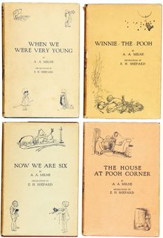 """my favorite is still """"When we were very young""""  and who couldn't love Winne the Pooh, Piglet, Tigger, Owl, Eyore, Kanga & Roo, Rabbit & Christopher Robin???"""